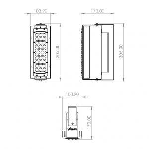 Dimensiones Factor LED 1m