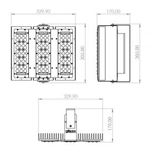 Dimensiones Factor LED 3m