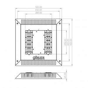 Dimensiones Petro LED Aplique 2m