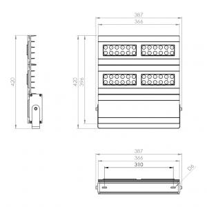 Dimensiones Reflector LED 240