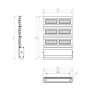 Dimensiones Reflector LED 320